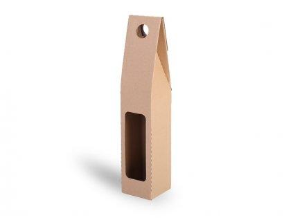 095394 PR|Reklamní dárková krabice na 1 láhev vína|na víno| kartonovy obal na víno|Reklamní potisk na reklamní předměty
