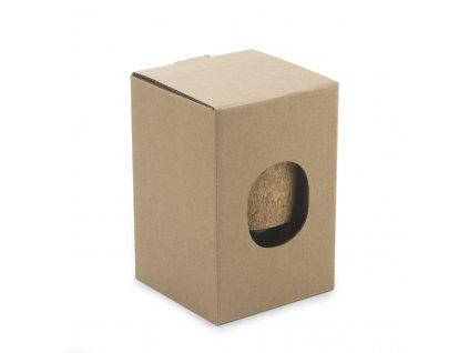 054225-20 nerez hrnek dvoplášťový s karabinkou místo ouška, na zavěšení na batoh