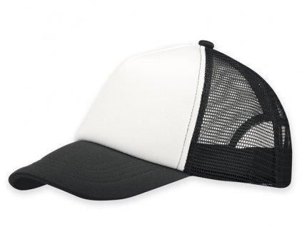 M781046-10|Reklamní siťovaná kšiltovka|Letní čepice s kšiltem| černá letní reklamní kšiltovka s nylonovou sítkou