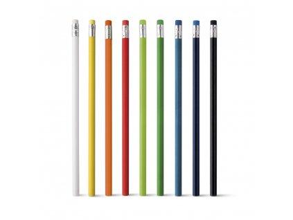 M761194  mix barev Dřevěné tužky s gumou s potiskem i bez potisku Barevné obyčejné tužky na potisk loga firmy