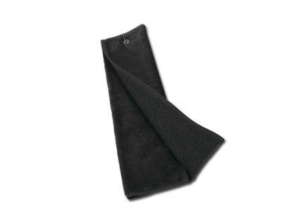 003931-10 Golfový ručník s kovým poutkem na zavěšení na golfový bag, 400g/m2