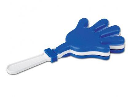 001005-20 plastová fandící ruka modrá