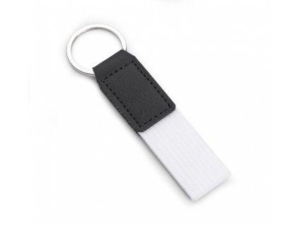 B17813-01|Textilní přívěsky na klíče|bílá