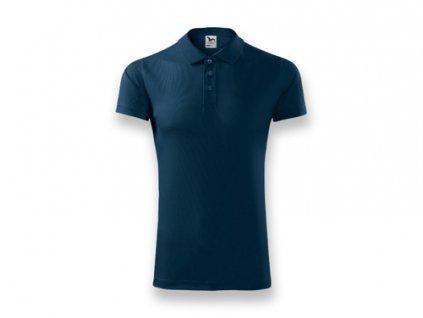 035132-24 sportovní tričko s límečkem - tmavě modrá barva