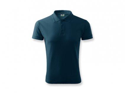 032826-24 tmavě modrá bavlněné tričko s límečkem * reklamní potisk na tričko*reklamní textil pro firmy
