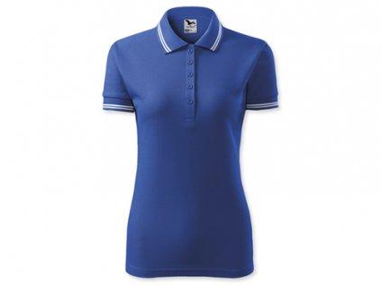 035346-20 tmavě modré tričko s límečkem, 65 % bavlna + 35 % PES, pique úplet, 200 g/m2