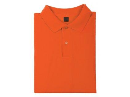 M741672- 03/ KVALITNÍ POLO KOŠILE BAVLNĚNÁ/ REKLAMNÍ TRIČKO Z BAVLNY Z LÍMEČKEM/ 180 g/m2/ potisk a prodej triček pro firmy/ oranžová
