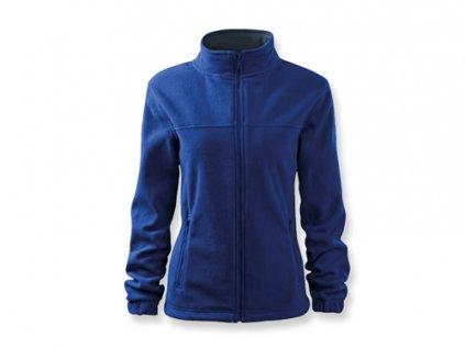 034498-20 modrá* Dámská fleecová mikina na zip mírně projmutá*potisk*pracovní oděvy*reklamní oblečení