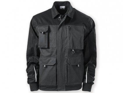 035384 - 12* šedá pánská pracovní bunda s reflexními pruhy*pracovní firemní oděvy pro a bundy pro zaměstnance