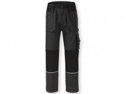 035379-12 šedé pracovní kalhoty multifunkční pracovní oděvy s reflexními prvky* vysoká kvalita*firemní oděvy pro zamstnance na stavby, železnice, dopravy, spedice, na stavby silnic