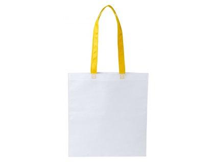 M781792-02/Reklamní tašky na nákup|Levné tašky|Levné reklamní předměty s potiskem|nákupní taška bavlněná/ žlutá/ BÍLÁ