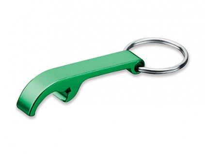 027736 -40 Reklamní otvírák s potiskem i bez potisku Otvírák na lahve zelený kovový otvírák na láhve jako přívěšek na klíče