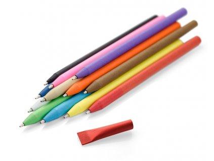B1957|Ekologické papírové kuličkové pero z recyklovatelného papíru|Reklamní ekologické předměty|barevné