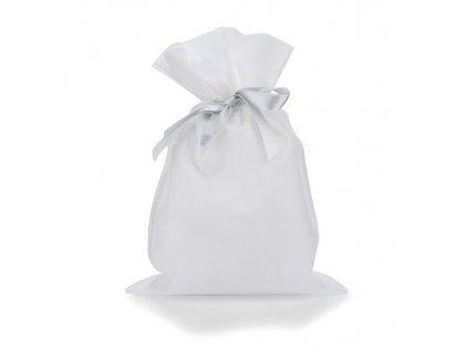 B17814-01|Dárkový stahovací sáček se stuhou|Dárkové a reklamní předměty|dárkové balení|Reklamní potisk|Bílá