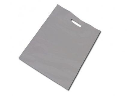 034010-19 |Reklamní igelitové tašky s potiskem i bez potisku|igelitová taška stříbrná