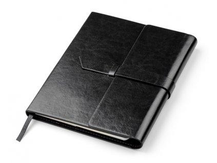 0017677-02*kořenkový zápisník s poutkem na pero a USB disk*vyměnitelný papírový blok na 80 list*záložka