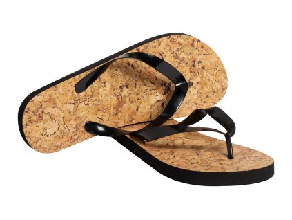 M721476-10/ reklamní plážové boty/ žabky s potiskem loga firmy/ černá