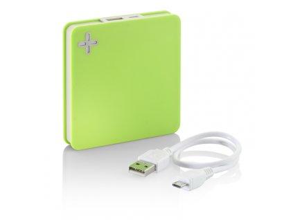 0045025-13 Reklamní záložní baterie,5200 mAh, bílá barva, v dárkové bílé papírové krabičce- 399 Kč,zelená barva