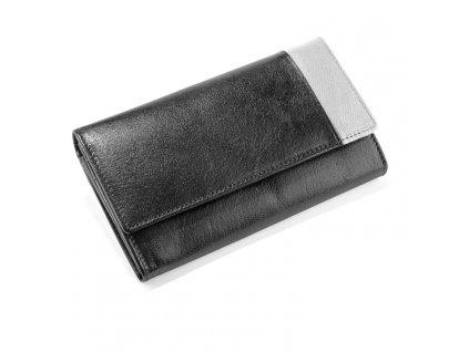 0007035-00 Dámská peněženka kožená šedá