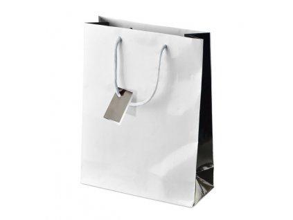 A83130 Reklamní vánoční papírová dárková taška na malé dárky
