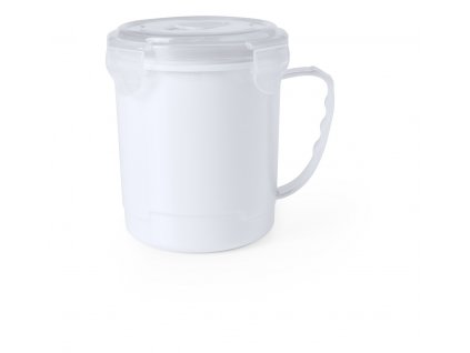 M781057 01/Hrnky na pití s víčkem/ plastové hrnky na pití pro děti, seniory a osoby na nemocničním lůžku/Velké hrnky na pití/ reklamní potisk hrnků dle zadání firmy/ bílá