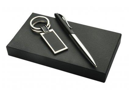 B17551|dárková sada|kuličkové pero a klíčenka v dárkové krabičce|reklamní dárky pro firmy|adonai.cz