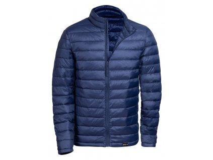 M721921 06a/ Reklamní oděvy s potiskem loga firmy/ Prodej a potisk pracovní oblečení/ Bunda z RPET polyster/ recyklovatelné oděvy/ Bunda s etiketou RPET/ reklamní bundy voděodolné, větruodlolné/ modrá