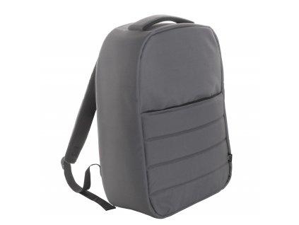 M722037 77 b/EKO batohy/ pánské i dámské batohy RPET/ batohy na notebook a  laptot, přihrádky na zip, tvarovaná záda a ramenní popruhy/ Ekologické reklamní dárky, batohy s možností potisku/ šedá