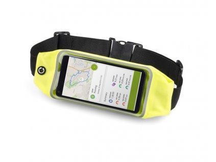 B20110-a|Sportovní bederní kapsička a taštička s reflexními prvky a velkou přední kapsou na mobil|Reklamní ledvinky|Reklamní předměty|Reklamní potisk|žlutá