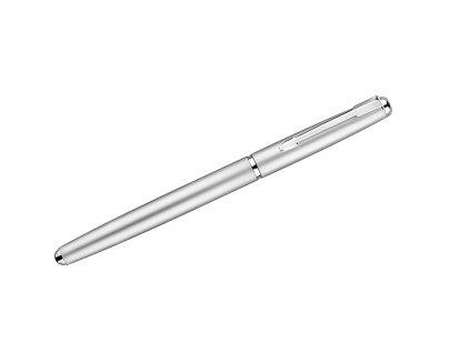 B19576-00|Stříbrné kovové kuličkové pero|Potisk reklamní na propisky|Gravírování propisek a per|Stříbrná