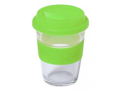 M721950 71/Skleněné hrnky a šálky na kávu a čaj na opakované použití/ prodej a potisk hrnků logem firmy/ Reklamní a propagační dárky/ zelená