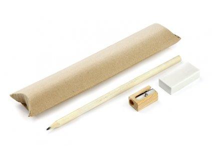 B19811|Ekologická dárková sada psací potřeby v dárkovém ekologickém obalu|Dřevěná tužka v papírovém obalu|Ekologické dárky pro firmy