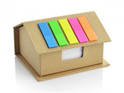 B17594|Poznámkové bločky s papírky|Tvar domečku|Reklamní potisk|