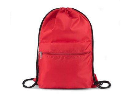 B20240-04|Látkové vaky a batohy na záda se šňůrkou a velkou kapsou|Reklamní předměty s potiskem|Firemní potisk na vaky a batohy|červená