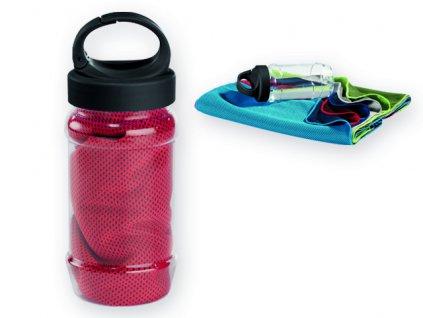 099967-05|Chladící ručníky s potiskem firmy|Reklamní chladící ručníčky v plastovém obalu|Reklamní sportovní láhve|Reklamní potisk|červená