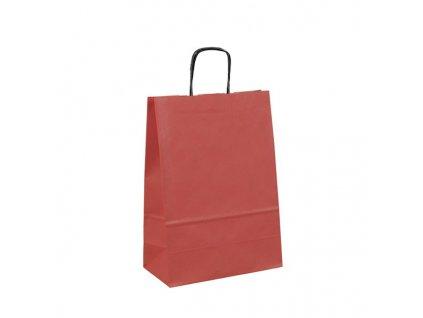 095464-34|Rozměr tašky 18x8x25 cm|levné nákupní papírové tašky s krouceným uchem v barvě tašky