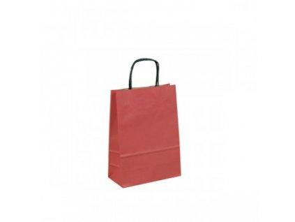 095451-PR|Rozměr 16x8x25 cm|Dárková papírová taška natur hnědá s bavlněnými držadly|Prodej a potisk dárkových papírových tašek