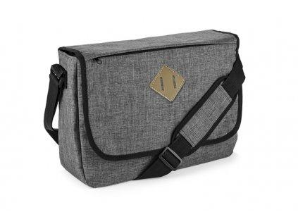 B20297-14|Reklamní tašky|Taška na dokumenty|TAška přes rameno|šedá|Reklamní potisk