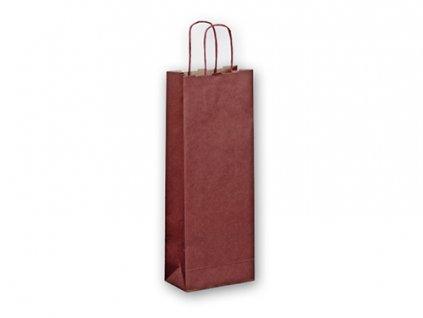 AOD004|Reklamní papírová taška na víno|bordó