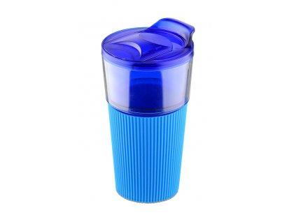 B17615-03|Designový nezávadný plastový hrnek modrý|Reklamní potisk na plastové hrnky logem firmy|Reklamní dárky