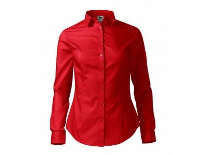 A229 07|firemní oděvy a textil|Dámské projmuté košile s dlouhým rukávem|Reklamní potisk na košile|červená