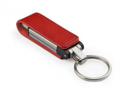 B44051-04|USB FLASH disky s vlastním potiskem|červená|kožené flash disky|