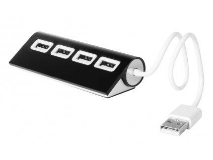 M781137-10 a/USB ROZBOČOVAČ|USB HUB|REKLAMNÍ POTISK LOGEM FIRMY|ELEKTRONICKÉ PC DÁRKY S POTISKEM I BEZ POTISKU/ ČERNÁ