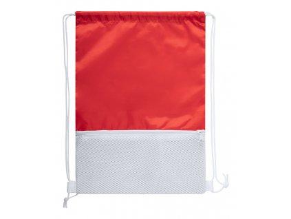 M721562- 05/Reklamní stahovací batoh|Bavlněné batohy s popruhem na rameno|Reklamní předměty a reklamní batohy s potiskem i bez potisku|ČERVENÁ