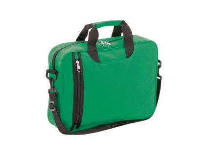 m791026 -07/pracovní tašky a aktovky s ramenním popruhem/ reklamní aktovky do práce do ruky i na rameno/ reklamní potisk/ zelená
