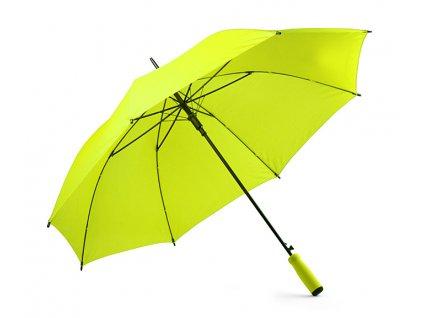B37036-13|Reflexní světle zelený deštníky|Deštníky holové|Pěnové držení|Plně automatické deštníky|Moderní a vysoce kvalitní provedené deštníky