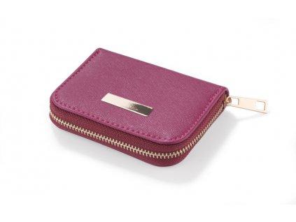 B01026-11|Reklamní peneženky|Dámské peněženky|Reklamní potisk na kožené peněženky|Fialová