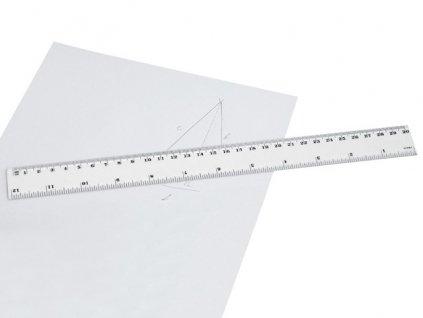 M761134|PLASTOVÉ PRŮHLEDNÉ ŠKOLNÍ PRAVÍTKO|PLASTOVÁ PRAVITKA|Pravítko|Pravítka|Plastová|dlouhá pravítka