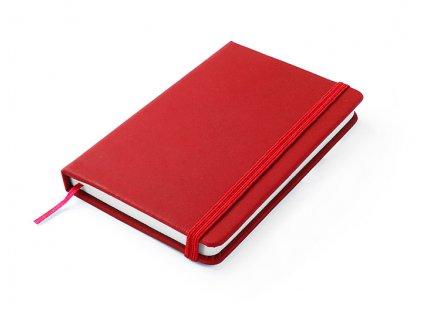 B17529-04|Kancelářské zápisníky|Kancelářské potřeby|Kancelářské dárky|S tiskem loga|Červená