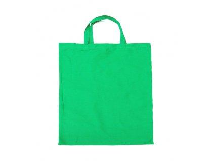 B20219-05|Tašky reklamní a nákupní|barevné bavlněné tašky s potiskem i bez potisku|Zelená